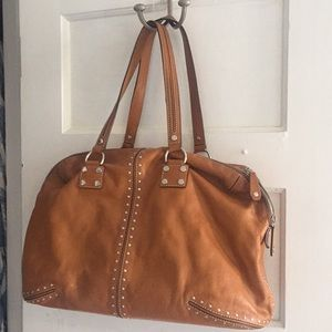 Michael Kors Large Brown Leather Satchel